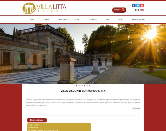 Villa Litta Lainateのサイト